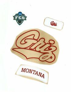 Montana Football Helmet Decals Free Shipping White Helmet