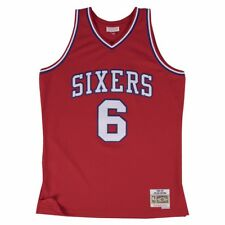 31c3f96f663 Julius Erving  6 Philadelphia 76ers Vintage Throwback Swingman Jersey Red  Small