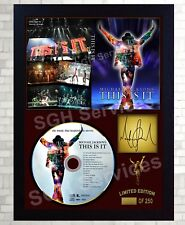 "Michael Jackson SIGNED FRAMED PHOTO AND""THIS IS IT"" CD Disc Presentation Display"