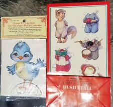 LOT of 2  NEW w/tag VINTAGE 1980s Paper Doll Bluebird and Bushytail Gift Bag