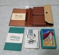 Canasta And Bridge Game Set With IRS Playing Cards Stamp.