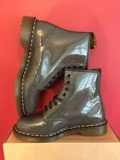 Dr Martens 1460 Unisex Grey Patent Leather Boots Size Uk 9 BRAND NEW WITH BOX