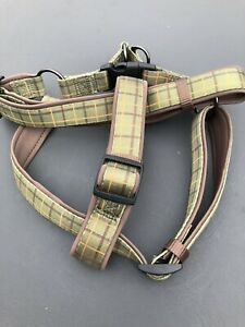 """Dog & Co Green Check Luxury Padded Harness. Size L 24-28"""" New And Unused No Tags"""