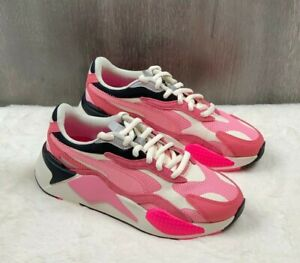 PUMA RS-X3 Puzzle Rapture Rose-Peony-White Women's Running Shoes SIZE 7.5