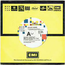 "GRACE JONES - I'M NOT PERFECT - RARE 7"" 45 SAMPLE VINYL RECORD - 1986"