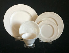 Lenox Temple Off White Ivory China Five Piece Place Setting Ribbed No Trim USA