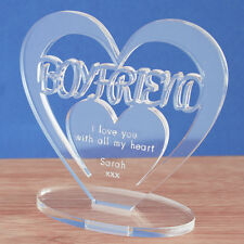 Personalised Heart Keepsake Boyfriend Birthday Anniversary Valentine's Day Gift