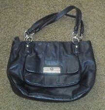 Coach L 1073 16814 Kristen Leather Shoulder Bag Tote Satchel Handbag Black VGC!!