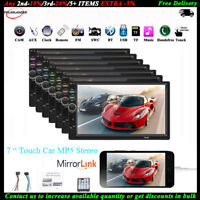 """7""""2 DIN Touch Screen Autoradio MP5 Lettore Mirror Link AUX Stereo Bluetooth TF"""