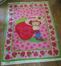 "Strawberry Shortcake Fleece Blanket Throw Berry Cool 52"" x 46.5"""