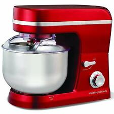 Morphy Richards 400010 5L 800W 6 Settings Stand Food Mixer Red