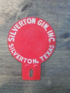 Vintage Silverton Gin Texas License Plate Topper