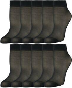 10 Pairs Women's Soft Nylon Ankle Sheer Socks Hosiery