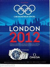 PUBLICITE ADVERTISING 106  2012  la montre Omega seamaster aqua terra JO LONDON