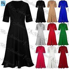 Unbranded Plus Size Short Sleeve V Neck Dresses for Women