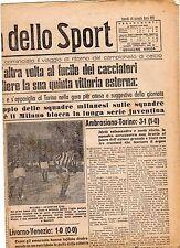 LA GAZZETTA DELLO SPORT DEL LUNEDI'  18  GENNAIO  1943    NR 15