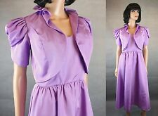 70s Dress Jacket Set Jrs S Vintage Purple Lavender Sleeveless Prom Gown Bolero