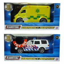 Teamsterz City Kids Emergency Response Ambulance / Police Car Light & Sound Toy