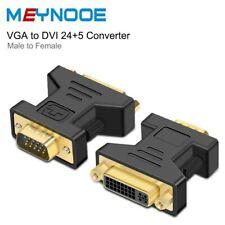 DVI-I DVI-D DVI Female to VGA SVGA Male 15-pins Adapter Converter Connector