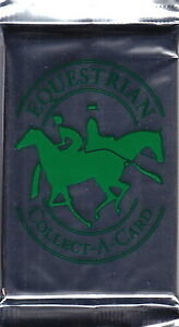 EQUESTRIAN - Edition 2 Horse Collect-A-Card Packs (24) by Combro Scandinavia