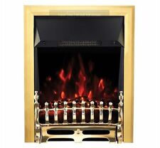 Blenheim Brass Inset LED Electric Fire Coal Effect 1000W & 2000W Fan