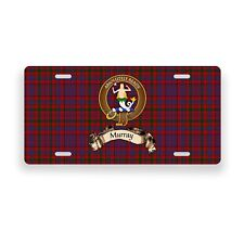 Murray Scottish Clan Tartan Novelty Auto Plate Tag Family License Plate