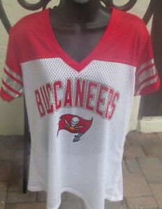 NEW Tampa Bay Buccaneers G-III Sports NFL Women's Pass Rush Jersey size Large