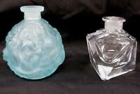 Lot of 2 Vintage Irving W. Rice Irice Glass Perfume Bottles *No Lids / Stoppers*