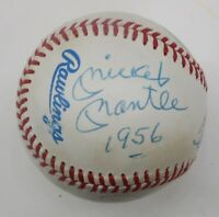 Mickey Mantle 1956 Ted Williams +2 Signed / Auto Triple Crown Baseball JSA LOA