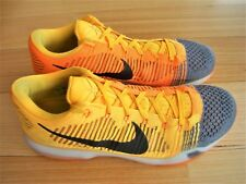 Nike Kobe X 10 Elite Low Orange & Black Mens Basketball Boots Size 13 US, 12 UK