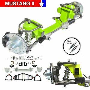 "33-36 Willys Car Mustang II IFS Shock Thru Coil 2"" Drop 5x4.75 Manual LHD Rack"