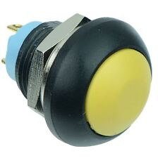 Yellow Momentary Off-(On) Waterproof 12mm Push Button Switch 2A IP67 SPST