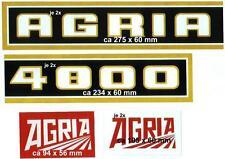 1 Satz Agria HaubenAufkleber Traktor 4800/6700alter Schriftzug 7 teilig sie Bild