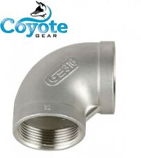 """20 Pack Lot: 1/8"""" NPT 316 SS 90 Degree Elbow Stainless Steel Coyote Gear 150#"""