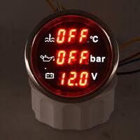 3in 1 Multi-Function Digital Water Temperature Oil Pressure Gauge Voltmeter 52mm