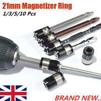 Magnetic Ring Strong Magnetizer Screwdrivers Electric Hex Bits Heads Lock Screw@