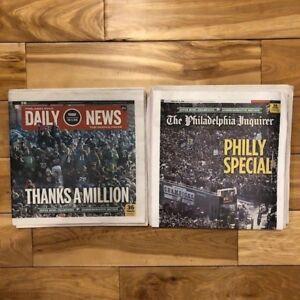 EAGLES SUPERBOWL Parade Philadelphia Inquirer & Daily News 2-9-18 Newspapers