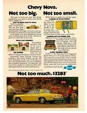 1976 Chervrolet Chevy Nova Not Too Big Not too Small Not Too Much $3283 Print Ad