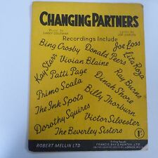 song sheet CHANGING PARTNERS, Larry Coleman, Joe Darion, 1953
