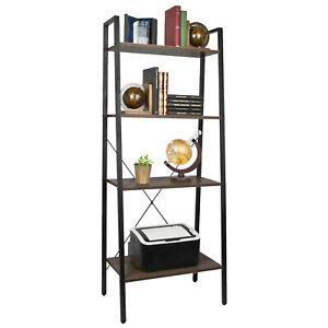 4 Tier Ladder Shelves Display Cabinet Bookshelf Unit Home Living Room Furniture