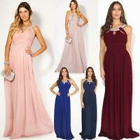 Womens Formal Maxi Wedding Bridesmaid Prom Dress Cocktail Long Ball Gown Party