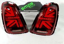 Mini Red LED Union Jack Rear tail Lights R56 2006 - 2010 Gen 2 (pre-LCI)