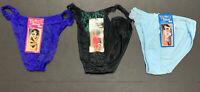 Vandale Intimates Bikini Panties Lot Of 3 Panties Nylon Rayon Cotton Size 7-8