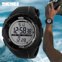 SKMEI 1025 Men Sports Watch 5ATM Dive Swim Climbing LED Digital Outdoor BR