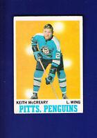 Keith McCreary 1970-71 O-PEE-CHEE OPC Hockey #93 (VGEX) Pittsburgh Penguins