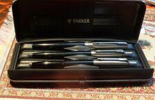 Parker  Druckbleistift Kugelschreiber Füllfederhalter  3er Set schwarz silber
