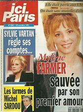 MAGAZINE - ICI PARIS / COUVERTURE MYLENE FARMER ABBA MICHEL SARDOU SYLVIE VARTAN