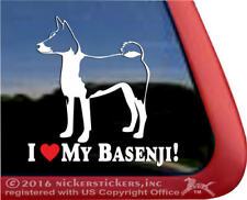 I Love My Basenji | High Quality Vinyl Dog Window Decal Sticker