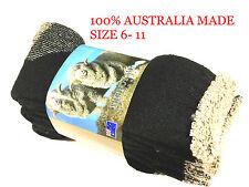 3 X Pair AUSTRALIAN MADE MERINO WOOL MENS WORK SOCKS SIZE 6- 11 (brand New)