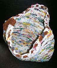 Eco Friendly Handmade Shopping Tote Bag Crocheted from Recycled Plastic Bags